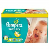 Maxi Pack 340 Couches Pampers Baby Dry sur choupinet
