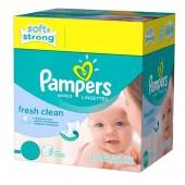Pack de 384 Lingettes Bébés Pampers de Fresh Clean sur tooly