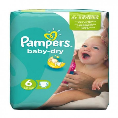 Couches Pampers Baby Dry taille 6 - 31 couches de Starckman
