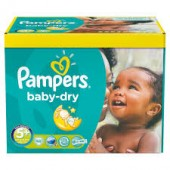 Pack économique 245 Couches Pampers Baby Dry sur layota