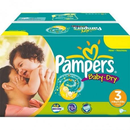 Pack économique 272 Couches de la marque Pampers Baby Dry de taille 3 (Midi) de Starckman