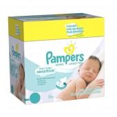 Pack économique 500 Lingettes Bébés Pampers New Baby Sensitive sur 123couches