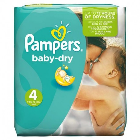 Pack 42 Couches Pampers Baby Dry taille 4 (Maxi) (7-18 kg) de Starckman