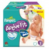 Couches Pampers Active Fit taille 3 - 372 couches