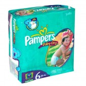 Couches Pampers Baby Dry taille 6 - 33 couches