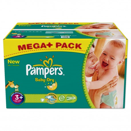 Maxi Giga Pack 328 Couches Pampers Baby Dry de Starckman