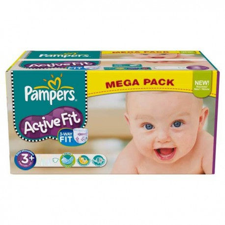 Couches Pampers Active Fit taille 3+ - 280 couches de Starckman