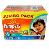 Pack de 308 Couches Pampers Simply Dry sur couches zone