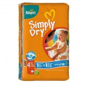 Pack de 46 Couches Pampers de Simply Dry sur soscouches