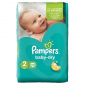 Pack de 42 Couches de Pampers Baby Dry sur couches zone
