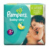 Pack de 68 Couches Pampers de Baby Dry sur 123couches