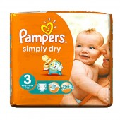 Pack de 56 Couches de Pampers Simply Dry sur 123couches
