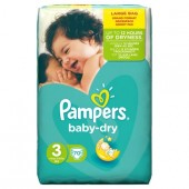 Pack 70 Couches Pampers de Baby Dry sur les looloos