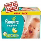 Maxi Pack 476 Couches de Pampers Baby Dry sur tooly