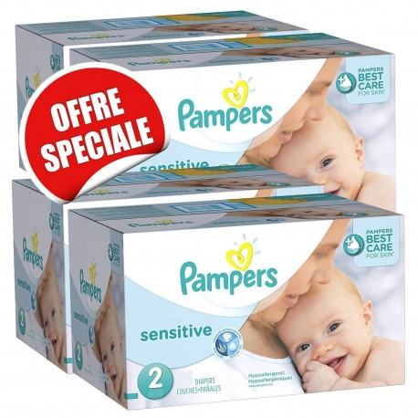 Couches Pampers New Baby Sensitive taille 2 - 540 couches de Starckman