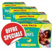 Maxi giga pack jumeaux 864 Couches de Pampers Baby Dry sur soscouches