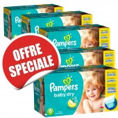 Maxi Giga Pack Jumeaux 627 Couches de Pampers Baby Dry sur soscouches