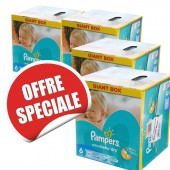 Maxi Giga Pack Jumeaux 648 Couches Pampers Baby Dry sur soscouches