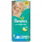 Pack 28 couches Pampers Active Baby Dry