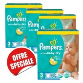 Couches Pampers Active Baby Dry taille 3 - 814 couches