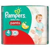 Pack 23 couches Pampers Baby Dry Pants