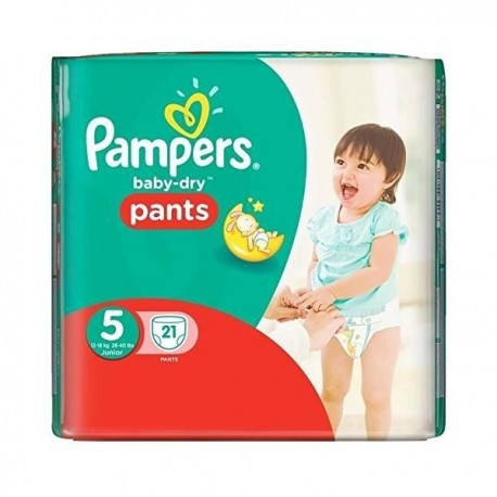 Couches Pampers Baby Dry Pants taille 5 - 21 couches de Starckman