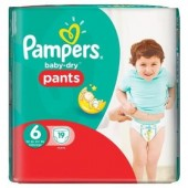 Couches Pampers Baby Dry Pants taille 6 - 19 couches