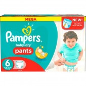 Giga Pack 190 couches Pampers Baby Dry Pants