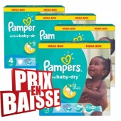 Couches Pampers Active Baby Dry taille 4 - 290 couches