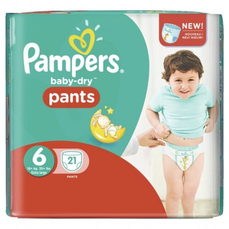 Couches Pampers Baby Dry Pants taille 6 - 21 couches de Starckman