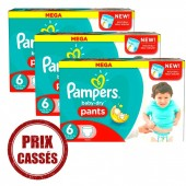 Giga Pack 105 Couches Pampers de Baby Dry Pants sur layota