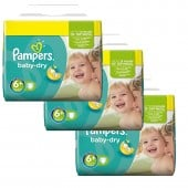 Pack économique de 114 Couches Pampers Baby Dry sur layota