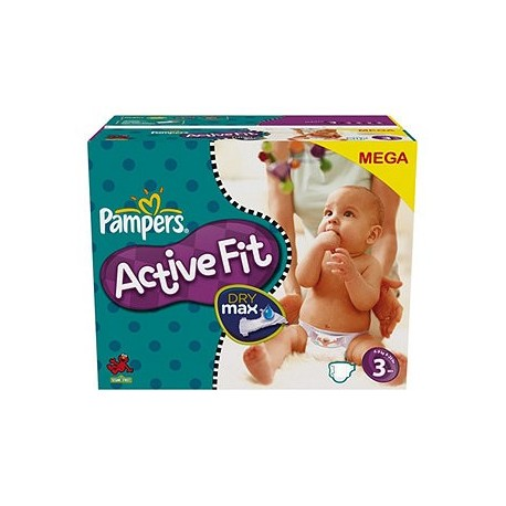 Couches Pampers Active Fit taille 3 - 360 couches de Starckman