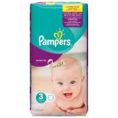 Couches Pampers Active Fit taille 3 - 62 couches