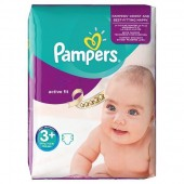 Couches Pampers Active Fit taille 3+ - 70 couches