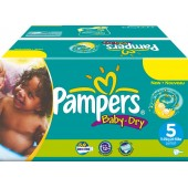 Giga Pack 164 Couches Pampers Baby Dry