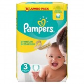Couches Pampers Premium Protection taille 3 - 50 couches