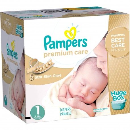Couches Pampers Premium Care taille 1 - 164 couches de Starckman