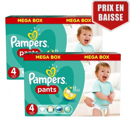 282 Couches Pampers Baby Dry Pants taille 4 de Starckman