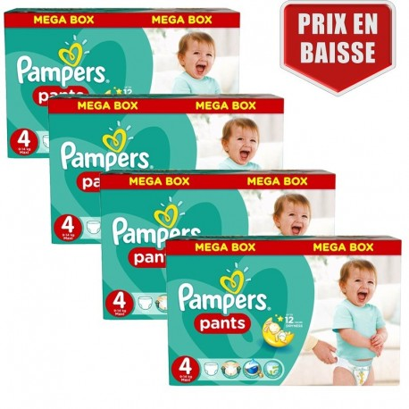 470 Couches Pampers Baby Dry Pants taille 4 de Starckman
