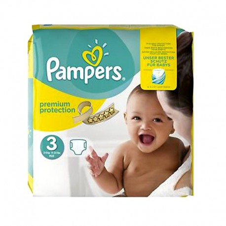 80 Couches Pampers Premium Protection - New Baby taille 3 de Starckman