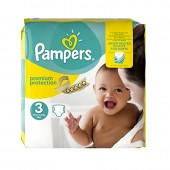 80 Couches Pampers Premium Protection - New Baby taille 3