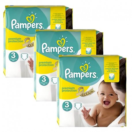 240 Couches Pampers Premium Protection - New Baby taille 3 de Starckman