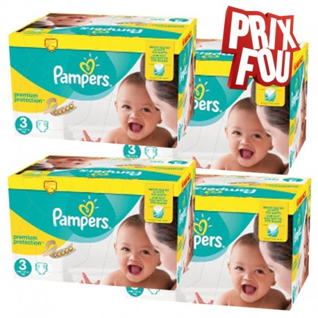 650 Couches Pampers Premium Protection - New Baby taille 3 de Starckman