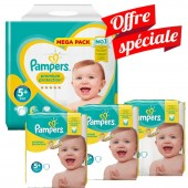 416 Couches Pampers Premium Protection - New Baby taille 5+