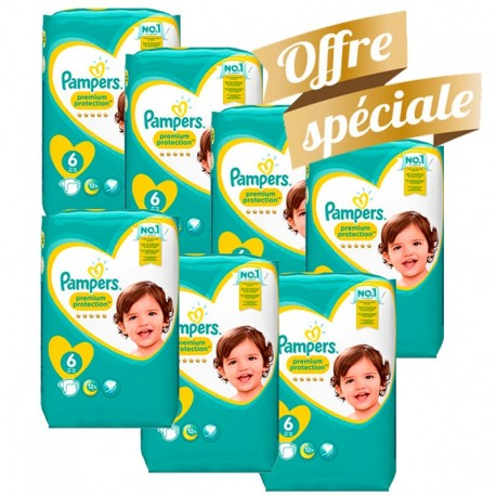 155 Couches Pampers Premium Protection - New Baby taille 6 de Starckman