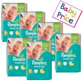 188 Couches Pampers Baby Dry taille 3+