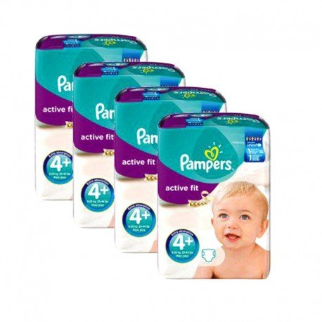 248 Couches Pampers Active Fit taille 4+ de Starckman