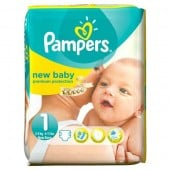 Pack 56 Couches Pampers New Baby sur tooly