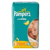Couches Pampers New Baby Dry taille 1 - 43 couches